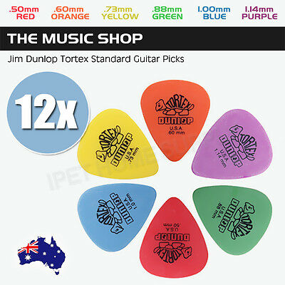 12X Dunlop Tortex Standard Guitar Picks | Musician's Friend 12 Pack Guitar Picks