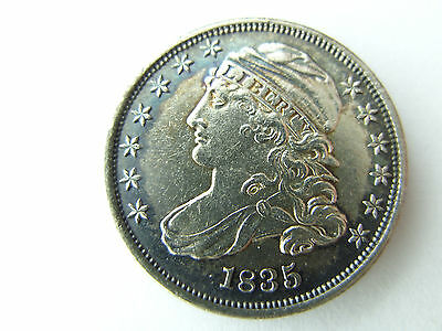 UNC - 1835 Capped Bust silver DIME uncirculated TONED gem Priced to sell FAST