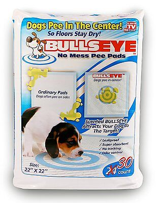 Bullseye Pee Pads 30 Count Puppy Training As Seen On TV New