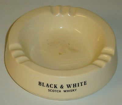 Black & White Scotch Whiskey cigarette ashtray by WADE for home bar or collector