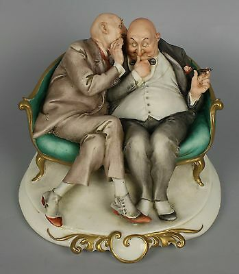 "Capodimonte Guiseppe Cappe Figurine ""The Joke"" MINT WorldWide"