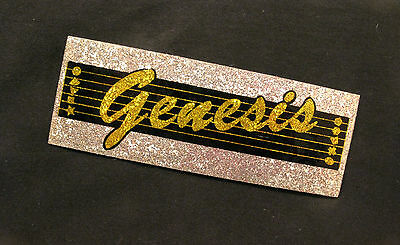 Genesis Large Glitter Vintage Sticker Us Made