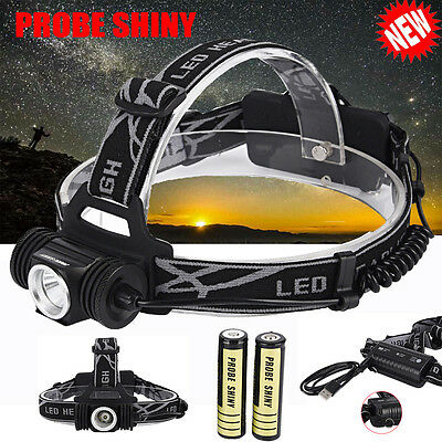 10000LM Headlamp XM-L T6 LED Headlight Head Torches Rechargeable Battery Kit Lot