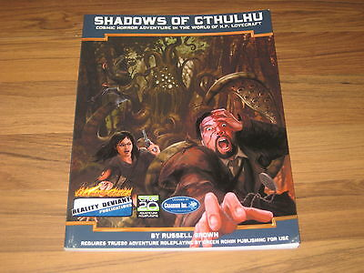 Shadows of Cthulhu Core Rulebook SC True 20 Flaming Cobra 2009 TOP
