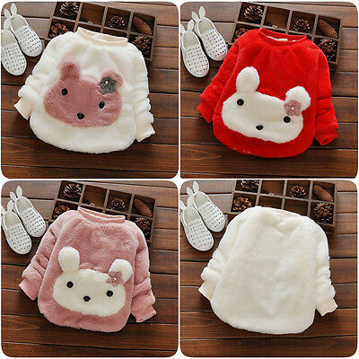 Winter Warm Baby Infant Girl Coat Thick Fur Tops Shirt Jacket Outwear Clothes US