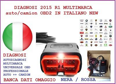 Auto Diagnosi 2015 .1 Multimarca Auto/camion/bus Obd2 In Italiano New Full