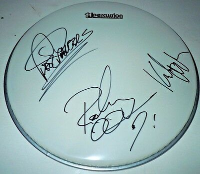 PAT TRAVERS BAND~Signed 12 inch Drumhead~Pat~Rodney~Kirk