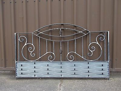 """Wrought Iron Metal Fencing Panels Railing Panels  """"made To Order"""""""