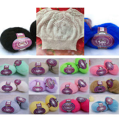 Skein of Soft Angora Mohair Cashmere Wool Knitting Yarn DIY Crocheting Craft 25g