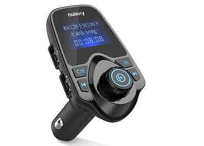 Nulaxy Upgraded Wireless Car Bluetooth FM Transmitter Radio Adapter Hands-Free