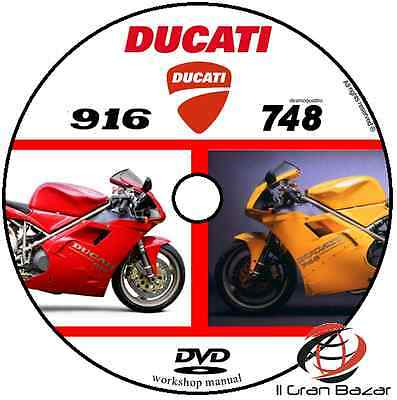 Manuale Officina Ducati 748 - 916 My 1998 - 2004 Workshop Manual Cd Dvd