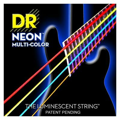 DR Hi-Def Neon Bass-Saitensatz Multi-Color 045-105