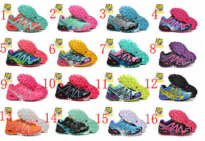 Hot Women's Salomon Speedcross 3 Athletic Running Sports Outdoor Hiking Shoes-SC