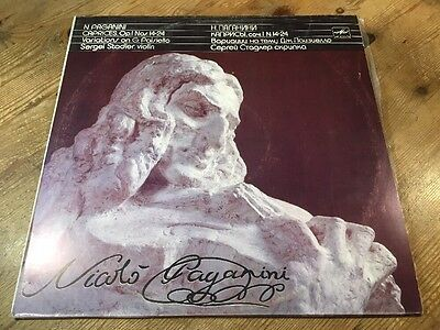 LP MELODIYA SERGEI STADLER PAGANINI Caprices for Violin Solo 14-24