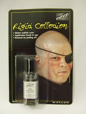 Mehron Rigid Collodion ~ 4ml ~  Scarring Liquid ~ Ageing  ~  Horror make-up