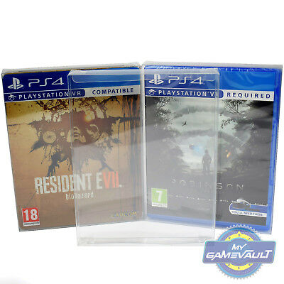 1 x PS3/PS4 Game Box Protector 0.4mm PET Plastic Display Case - Fits Steelbook