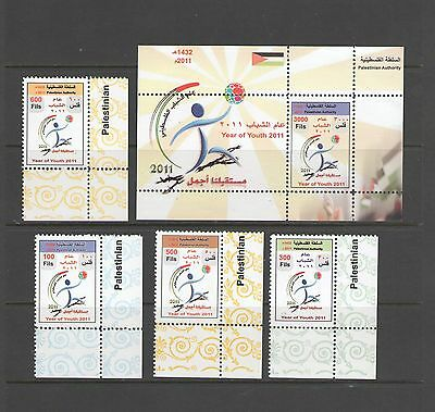 PALESTINE AUTHORITY: 2011 Issue /***YEAR OF YOUTHS ***/ 4 Values & SS / MNH