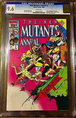 NEW MUTANTS Annual 2 (CGC 9.6 NM+) 1st US app PSYLOCKE X-MEN - Olivia Munn