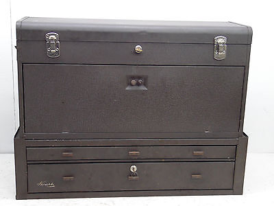KENNEDY 526 MACHINIST TOOL Chest Box MC-28 Riser 10 Drawers working Locks Keys