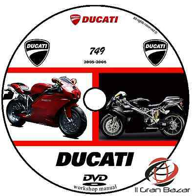 Manuale Officina Ducati 749  My 2005 - 2006 Workshop Manual Cd Dvd