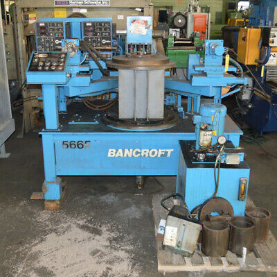 "100 KVA Bancroft Miller Dual Head Automated 30"" Rotary Table Welder"