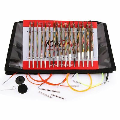 KnitPro Symfonie Wood Deluxe Interchangeable Circular Knitting Needle Set