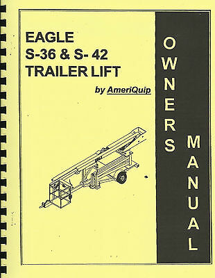 Ameriquip Aerial Lift/Manlift/Boomlift S-36 & S-42 Manual