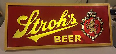 Rare Vintage Stroh Brewery Co. Advertising Lighted Sign