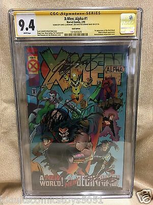 X-Men: Alpha #1 Gold Variant Edition Signed by Chris Claremont, Shooter, & Waid