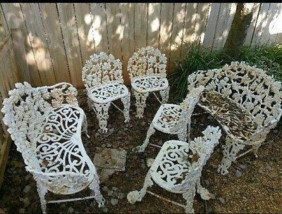 Antique Cast Iron Garden Bench & Chairs Set MUST SELL TODAY!!! Send Offers ASAP!