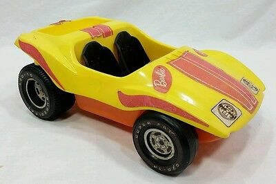 VINTAGE BARBIE CAR YELLOW ORANGE BEACH DUNE BUGGIE Toy Mattel 1972 USA