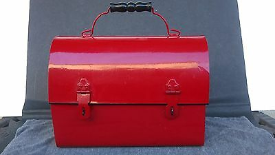 Vintage Red Lunch Box Purse 1970's Retro Rockabilly Style