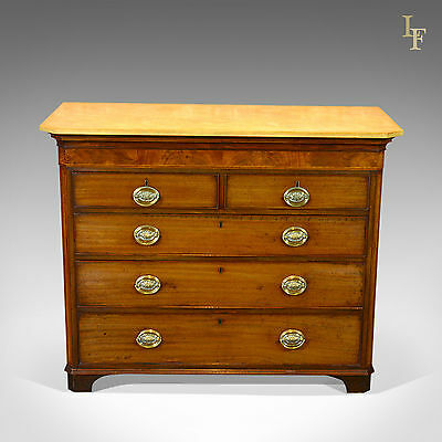 Antique Chest Of Drawers Tallboy Commode Mahogany Marble English Georgian c.1780