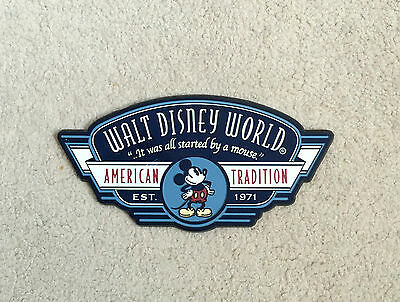 Official Walt Disney World Plaque- 'It Was All Started By A Mouse'- GC- Rare