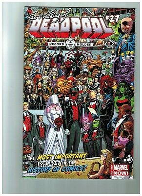 The Wedding of Deadpool # 27 World Record Cover NM Marvel Comics