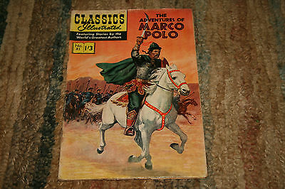 CLASSICS ILLUSTRATED - THE ADVENTURES OF MARCO POLO - No 81