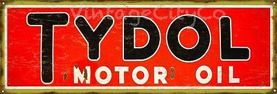 """Antique Style """" Tydol Motor Oil """" Metal Sign - Rusted"""