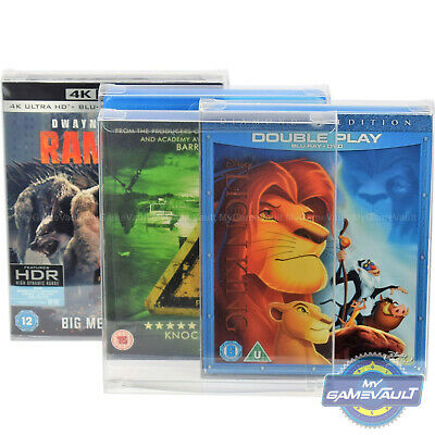 3 x Blu Ray Box Protector STRONG 0.4mm PET Plastic Case FITS Steelbook,Slipcover