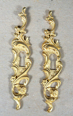 A Pair of Rococo Fire-gilded Escutcheons