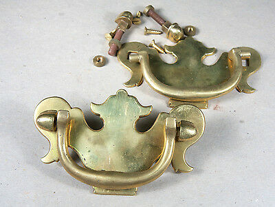 A Pair of Solid Brass Chest Lifts