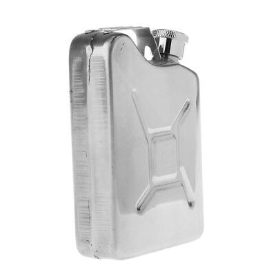 5oz Stainless Steel Liquor Hip Flask Oil Can Screw Cap for Home Wild Silver