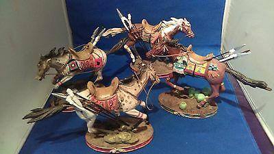 Decorative Native Ceremonial Horses-Lot of 4-Must See To Appreciate!