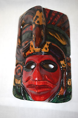Handmade Wooden Mayan Mask from Guatemala GREAT KIDS PARTY GIFT IDEA! #1