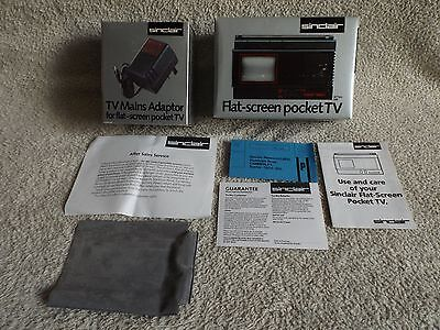 TV portable SINCLAIR Flat screen pocket TV  with charger & info RARE