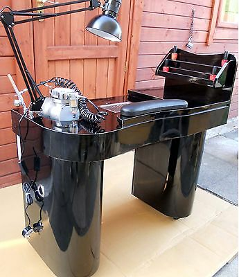 NEW MANICURE  NAILS TABLE JK  BLACK  /BLACK  with attractor  low price