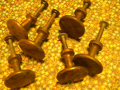 Antique Brass Knobs-set of 6