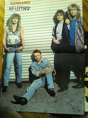 Def Leppard Double Page Poster from Kerrang Magazine