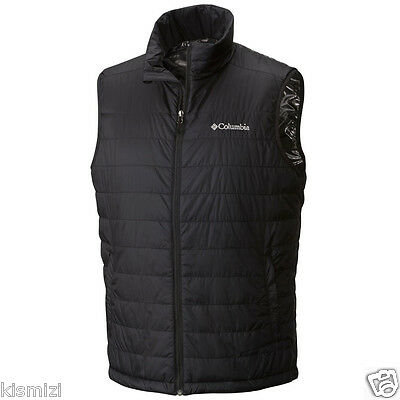 "$90 New Mens Columbia ""Crested Butte"" Insulated Omni-Heat Vest S-M-L-XL-XXL"