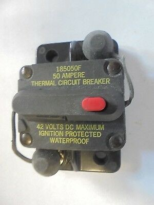PACER Bussman DC Circuit Breaker 50 Amp Surface Mt Waterproof CB185-50 185050F