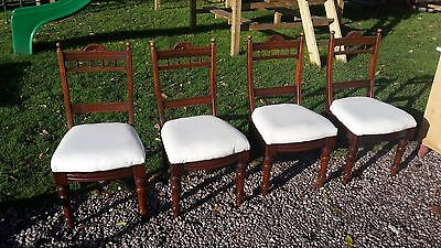 4 Victorian Dining Chairs Delivery Available